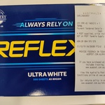 Reflex Ultra White 80gsm A5 Copy Paper 500 Sheet Ream $1 @ Australia Post