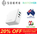 20% off Storewide - RAVPower 65W USB C PD Port Wall Charger $47.96 Delivered @ SOBRE eBay Store