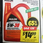 Nulon Semi Synthetic Engine Oil 5W-30 5L $14.99 (Was $42.99) @ Autobarn