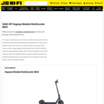 Segway Ninebot KickScooter MAX $799 (Save $400) in-Store/ Pick-up /+ Delivery @ JB Hi-Fi