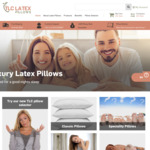 TLC Latex Pillows - Extra 20% off Everything. EG: The Classic $64 (RRP $119), The Stop Snore $68 (RRP $119) Shipped