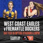 [WA] 2020 NAB AFL Women's Competition: West Coast Eagles V Fremantle $3 Adult / $0 Child + Free Public Transport