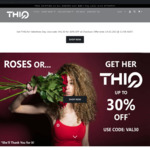 Extra 30% off Valentine's Day Special Women's Curve Fitted Activewear + Delivery ($0 with $80 Spend) @ THIQ