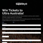 Win 1 of 4 Double Passes to the Ultra Music Festival in Melbourne/Sydney Worth $362.56 from Superdry