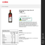 ½ Price Red Island Extra Virgin Olive Oil 1L $8 @ Coles