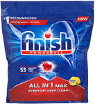 Finish Powerball Lemon Sparkle Dishwashing Tablets, Packet of 53 Wrapper Free $10 Tabs ($0.19 Per Tab) @ The Reject Shop