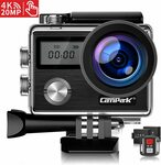 Campark X20 4K Action Camera Touch Screen 20MP & Accessories Kit $79.99 Delivered (20% off) @ CPK Direct Amazon AU