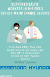 50% off Scheduled Servicing for Health Workers @ Hyundai