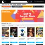 10% off DVD, Blu Ray, TV Series, Movies and Boxsets @ Kicks