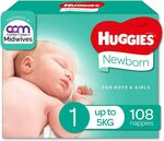 Huggies Ultimate Size 1/3/4/5 $24 ($21.60 with Subscribe and Save, $20.40 for Prime Members) @ Amazon