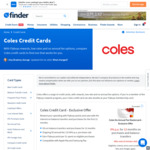 Exclusive Coles Mastercard Offers: $100 off Shop, 0% Interest Periods and Annual Fee Savings @ Finder