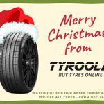 15% off All Tyres @ Tyroola