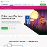 Spend $500 Get $50 Back with Your Latitude GO Mastercard