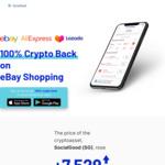 US$25 Worth of SG (Crypto) via Referral, 100% eBay Shopping Cashback as SG (US$500 Cap, 10,000 Participants) @ SocialGood App