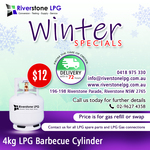 [NSW] BBQ Gas Refill for Households $12 for 4 Kilo Cylinder @ Riverstone LPG