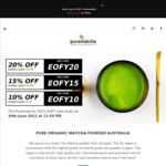 10-20% off Sitewide With $70-$250 Spend + Free Shipping with $50 Spend @ Purematcha