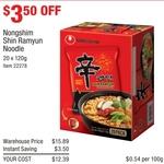 Nongshim Shin Ramyun Noodle 20x 120g $12.39 @ Costco in-Store (Membership Required)