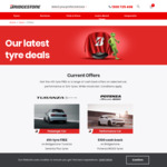 Bridgestone 4th Tyre Free for Turanza Serenity Plus, $100 Cash Back on Potenza RE003