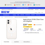 Apple iPhone 12, 12 Pro, 12 Mini Clear/Silicone Cases with Magsafe $39.50 + Delivery (Free C&C) @ BIG W / Officeworks