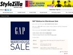 GAP Warehouse Sale up to 80% off until 4th March - South Melbourne VIC