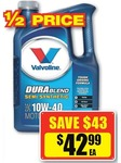 50% off Valvoline Durablend at Repco Only $42.99 (Save $43)