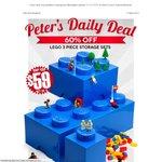 Lego Storage Bricks, Set of 3 for $59 (Normally $150) +Postage