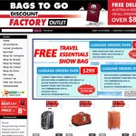 Free Travel Show Bags with Orders $99+ & Free Shipping for Orders $80+ @Bags to Go