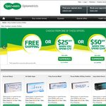 Specsavers Contact Lens Offers: Free Shipping, or $25 off $75+ Orders, or $50 off $149+ Orders