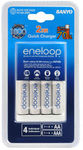 Eneloop Quick Battery Charger AA 4PK $29.95 + Delivery (Pick-up Also Available) @ Masters