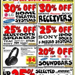 Audio Avalanche Sale @ JB Hi-Fi (Instore and Online)
