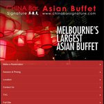 CHINA BAR SIGNATURE Buy 2 Get The 3rd Free Weekday Lunch or Dinner [VIC]