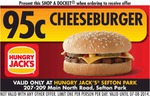 Fast Food Vouchers: Hungry Jacks Cheeseburgers $0.95, McDonald's Fries & 6 Nuggets $1.00 etc