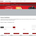 Canon Cashback $20-$400 on Selected Compact and DSLR Cameras