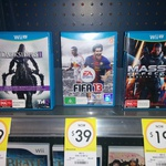 Wii U Games Clearance Kmart Cannon Hill QLD, Darksiders 2 $39, Mass Effect 3 $19, FIFA 13 $39