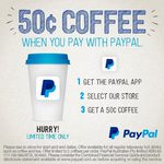 50 Cents Coffee or Tea at Feast@520 Cafe When You Pay with PayPal (Collins St, Melbourne CBD)
