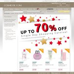 Up to 70% off Top Branded Cosmetic Products Single Day Shopping Carnival @Cosme-De