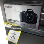 Canon EOS 1100D DSLR with 18-55mm Single Lens Kit $200 (Was $458) @ Big W