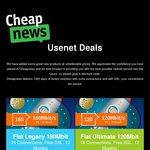 Cheapnews Usenet 160mbit $125 Per Year (Account Sharing Allowed)