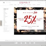 FURTHER 25% OFF The Mid Season Sale at The Esprit Online Store