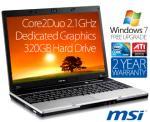 "MSI VX600 15.4"" Premium Core2Duo Notebook $599 + P&P"