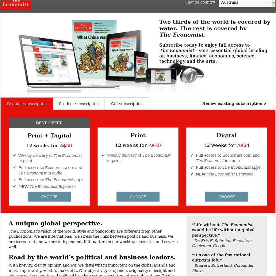 how to cancel the economist digital subscription