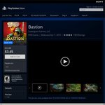 Bastion PS4 $3.45 USD (77% off), Transistor $5.00 (75% off) @ US PS Store