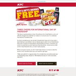 Order 3 KFC Snack Boxes ($10.50) Via Xpress App & Receive 3 Free Drinks (375mL Cans)