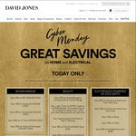 Cyber Monday Electrical Savings up to 25% off at Davidjones.com.au - TODAY ONLY