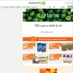 10% off $20+ Spend* @ Woolworths Metro [NSW+VIC, WOW Rewards] + 50% off All Freedom Foods & More