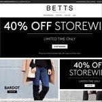 40% off Storewide @ Betts