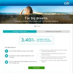 Citibank Online Saver 3.40% 4 Months Then 2% P.a. Rates Variable