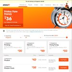 Jetstar Friday Fare Frenzy - Perth / Darwin to Singapore SG $99 (+ Taxes) Each Way, Plus Onward Specials to Other Asian Cities