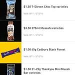 $1 600ml Cold Water, $1.50 Choc Top, $1.50 21g Mini Muesli Bar @ 7-Eleven [App Req'd]