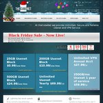 Thecubenet Usenet Black Friday Specials - 25GB US $0.99, 200GB US $10.99, 500GB US $24.99